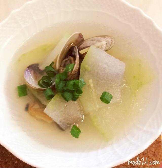 冬瓜とあさりのスープ(冬瓜蛤蜊汤)