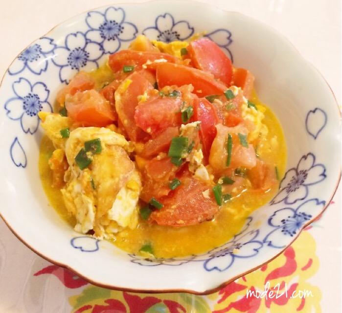「トマトと卵の炒め物」(番茄炒蛋) レシピ付き。