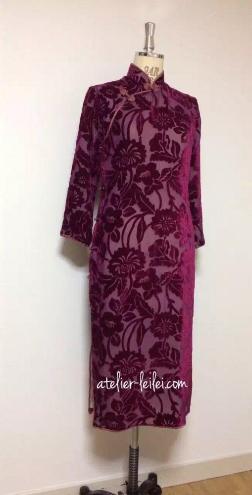シースルベルベットの旗袍-1980年代初期のもの。
