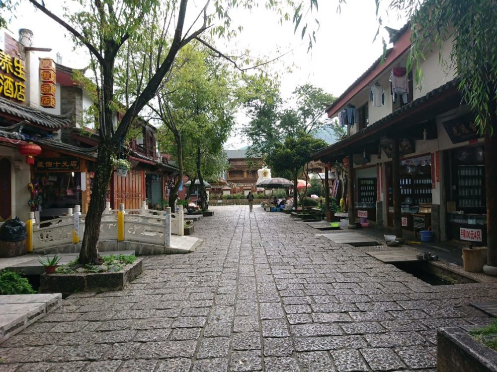 束河古鎮の街並み