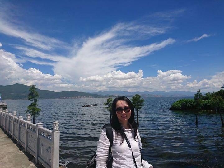 倉山洱海と記念撮影。