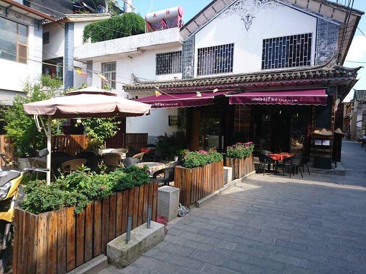 洋人街のカフェ。