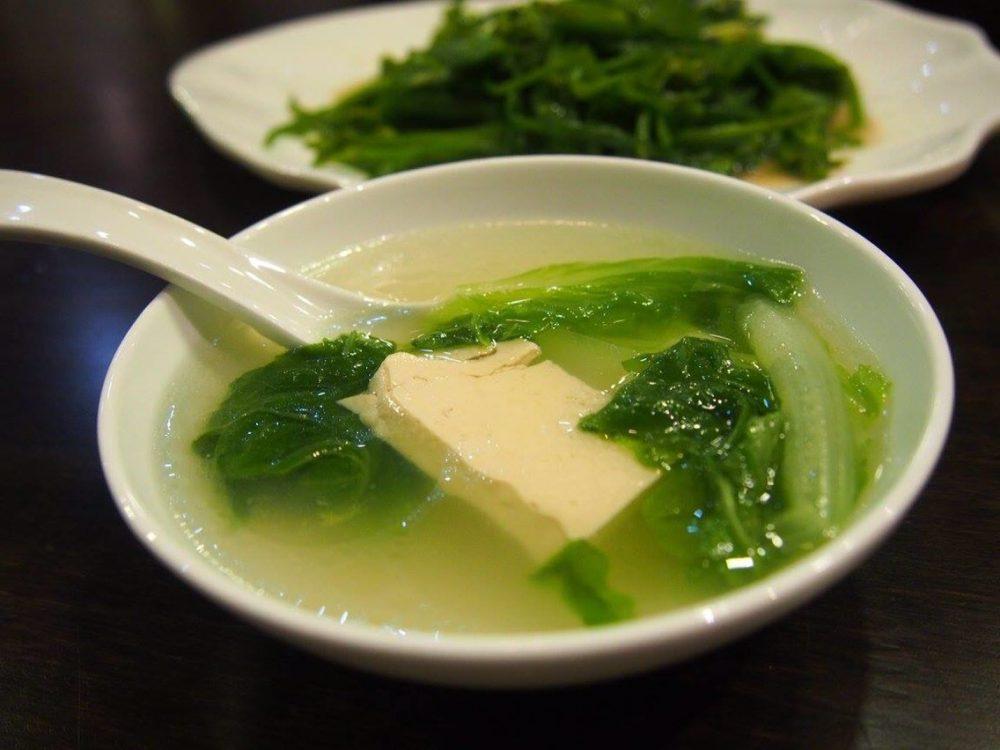 青菜と豆腐のスープ-in麗江。