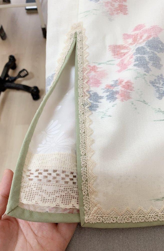 裏地は正絹の長襦袢使用。