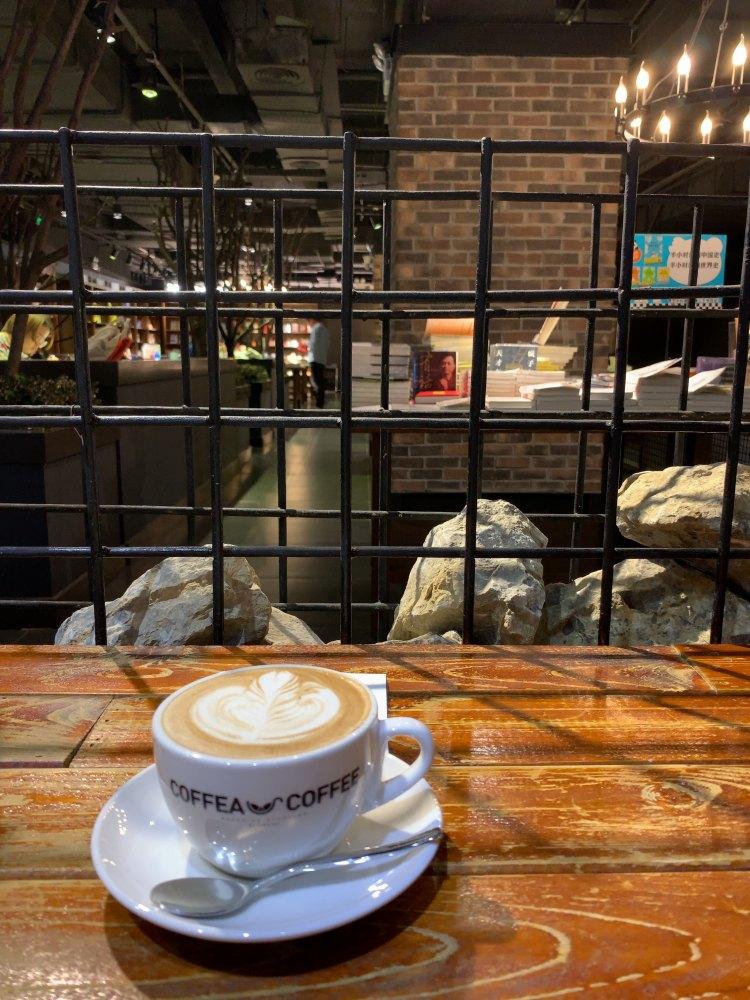カフェで一服。